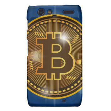 Cool Bitcoin logo and graph Design Motorola Droid RAZR Case