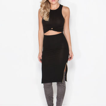 Switch Sides Ribbed Skirt