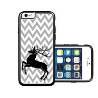 RCGrafix Brand Grey Chevron Deer iPhone 6 Case - Fits NEW Apple iPhone 6