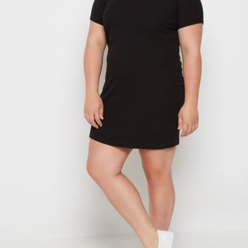 Plus Ribbed Off Shoulder Bodycon Dress | Plus Casual Dresses | rue21