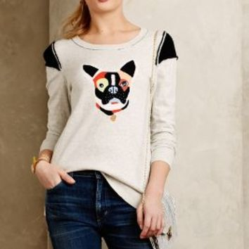 Frenchie Pullover by Lisa Todd Neutral Motif