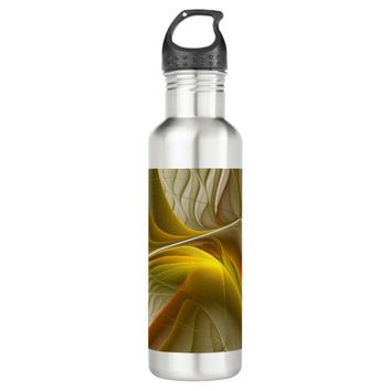 Colors of Precious Metals, Abstract Fractal Art Stainless Steel Water Bottle