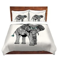 Duvet Covers Premium Woven Twin, Queen, King from DiaNoche Designs by Pom Graphic Design Home Decor and Bedding Ideas - One Tribal Elephant