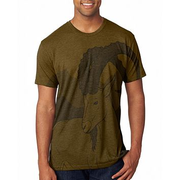 Ibex Goat Wild Mountains Men's Soft T-Shirt