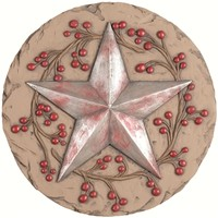 SheilaShrubs.com: Decor Stepping Stone Star 11112 by Carson Home Accents: Garden Stones
