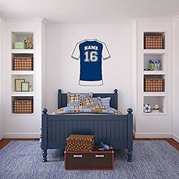 Soccer Sports Jersey Custom Name and Number Vinyl Wall Words Decal Sticker Graphic