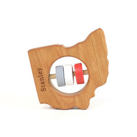 Ohio State Wooden Baby Rattle™