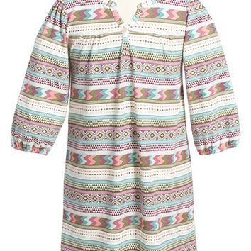 Girl's Tea Collection 'Catamarca' Graphic Print Henley Dress,
