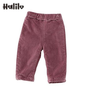 Halilo Winter Baby Pants Casual Corduroy Thicken Warm Baby Boy Pants Infant Clothing Girl Leggings Unisex Boys Girls Trousers