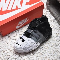 Nike Air More Uptempo Tri-Color Basketball Shoes - Best Online Sale
