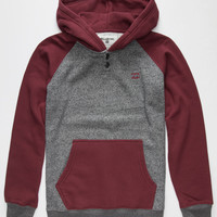 Billabong Grinder Boys Henley Hoodie Burgundy  In Sizes