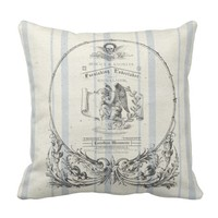 French Grain Sack Undertaker Throw Pillow