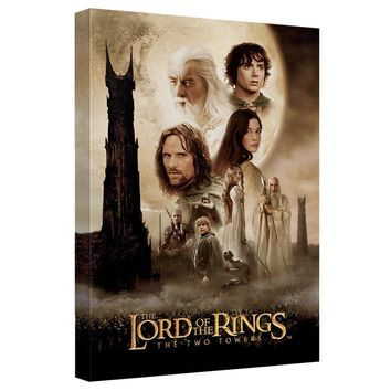 Lord Of The Rings - Two Towers Poster Canvas Wall Art With Back Board