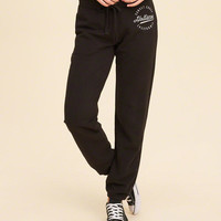 Girls Logo Graphic Banded Sweatpants | Girls Bottoms | HollisterCo.com