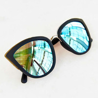 Quay Eyeware My Girl Sunglasses in Black/Blue Real Revo