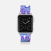 Radiant Cobalt & Royal Purple Mandala band Apple Watch Band (42mm) by Micklyn Le Feuvre | Casetify