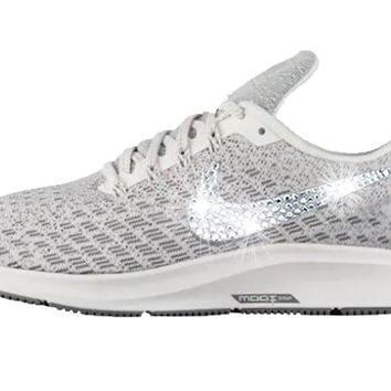 Women's Nike Air Zoom Pegasus 35 + Crystals - Phantom/Gunsmoke/Summit White