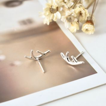 Lucky Antler Earrings - 925 Sterling Silver
