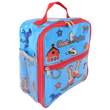 Classic Equine Kids Lunch Box in Blue