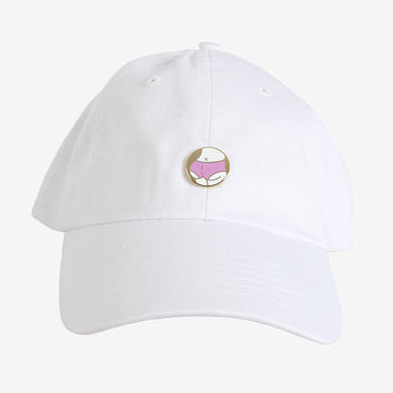 White Butt Pin Hat