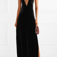 Michael Lo Sordo - Alexandra velvet maxi dress