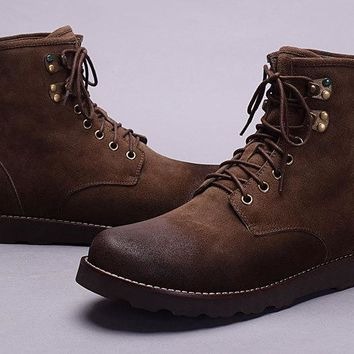 LFMON UGG 3623 Tall Hannen TL Men Fashion Casual Wool Winter Snow Boots Suede Coffee