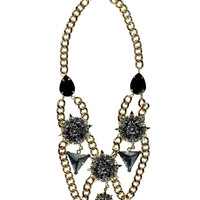 Hannah Statement Tiered Lion Necklace