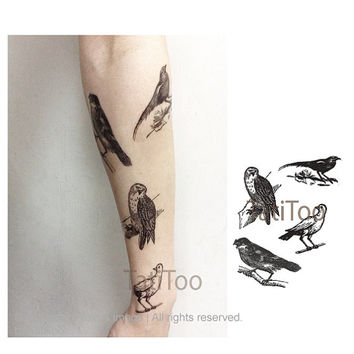 Birds set  - Temporary Tattoo T210