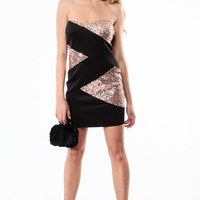 Sequin Sasha Heart Shaped Tube Dress