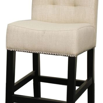 Scott Fabric Counter Stool, Flax