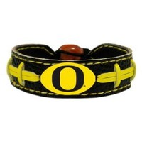 NCAA Oregon Ducks Team Color Football Bracelet