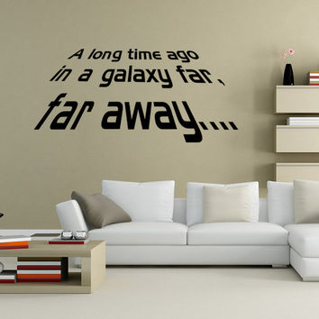 Starwars Living Room Bedroom Decoration Wall Sticker [7940616327]