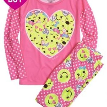 Emoji Pajama Set | Girls Sleep & Undies {parent_category} | Shop Justice