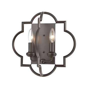 Chandette 2-Light Sconce in Oil Rubbed Bronze