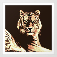 Tiger Art Print by Paula Belle Flores