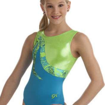 Turquoise & Lime Gymnastics Leotard from GK Elite