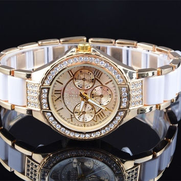 Fashion Gold Silver Women Dress Watches Desinger Women Bracelet Watch Ladies Luxury Crystal watch SV005649_W_27701 Wristwatch = 1956607172