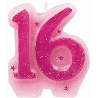 Amscan International Sweet 16 Birthday Candle