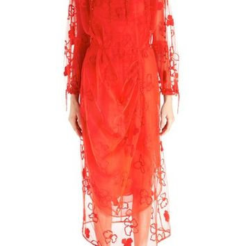 Simone Rocha 'Spooky' Floral Embroidered Dress | Nordstrom