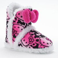Hello Kitty Ombre Fleece Slipper Boots - Girls