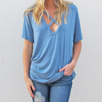 Conquer The Day Top {Blue}