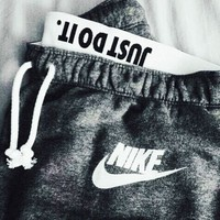 NIKE Woman Men Fashion Print Pants Trousers Sweatpants