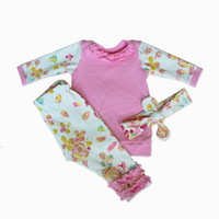 Baby Girl Coming Home Outfit - Floral - Baby Girl - 3 Piece
