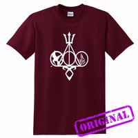 Harry Potter, Percy Jackson, Mortal Instruments, Hunger Games, and Divergent for shirt maroon, tshirt maroon unisex adult