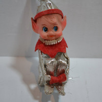 Japan Vintage Silver Elf Large 50s 60s christmas decor vintage christmas tree decor made in japan