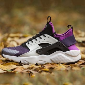 NIKE AIR Huarache Fashion Sport Running Ventilation Sneakers Sport Shoes Black-Purple