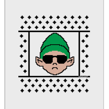 Cool Elf Christmas Sweater Aluminum Dry Erase Board