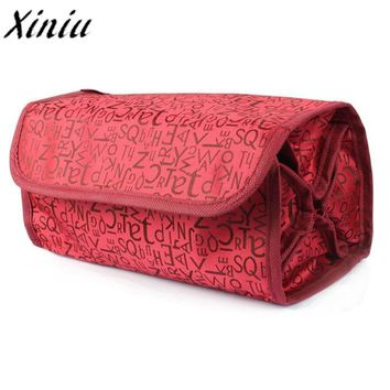 Women NEW Fashion Make Up Organizer Cosmetic Bag Case Hanging Makeup Bag Toiletries Travel Kit Jewelry Cosmetic Case Neceser