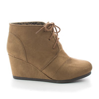 Rex Hazel By Classified, Hazel Suede Lace up Oxford Ankle Bootie