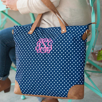 Monogrammed Shoulder Bag, Personalized Tote Bag, Bridesmaid Tote Bag, Canvas Shoulder Bag, Embroidered Tote Bag, Monogram Carry On